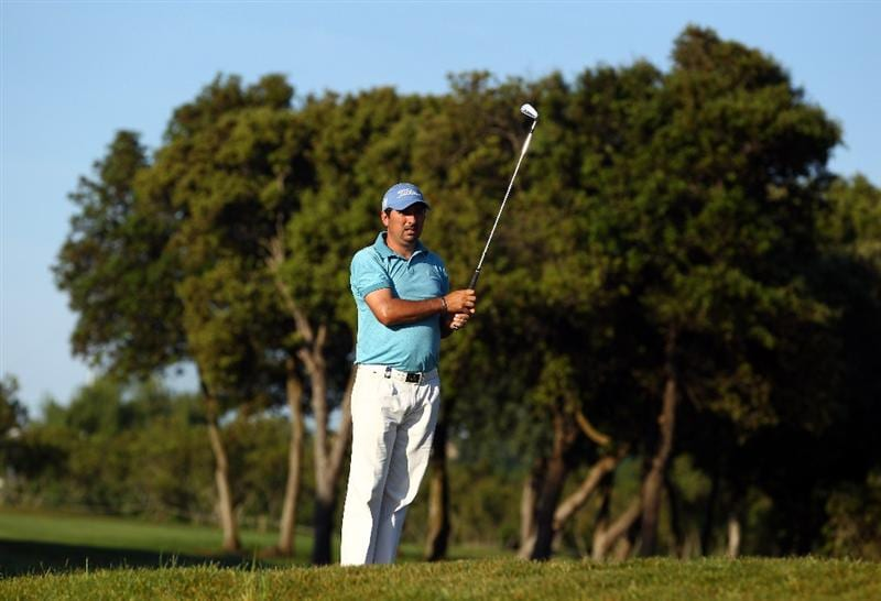 MALLORCA, SPAIN - MAY 12:  Julio Zapata of Argentina watches his shot on the 3rd hole during day one of the Iberdrola Open at Pula Golf Club on May 12, 2011 in Mallorca, Spain.  (Photo by Julian Finney/Getty Images)