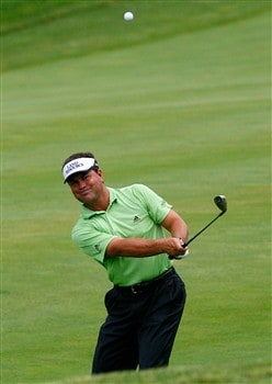 SILVIS, IL - JULY 12:  Jay Williamson chips onto the 17th green during the third round of the 2008 John Deere Classic at TPC at Deere Run on Saturday, July 12, 2008 in Silvis, Illinois.  (Photo by Kevin C. Cox/Getty Images)