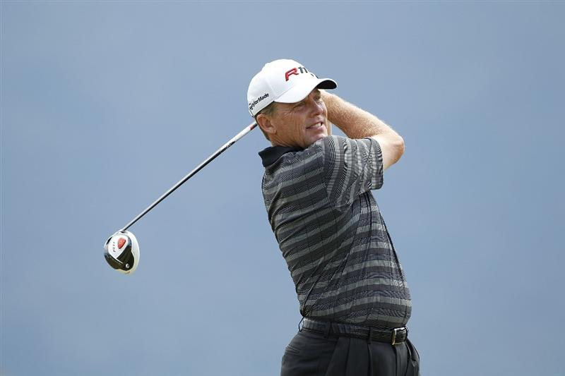 RIO GRANDE, PR - MARCH 13:  Michael Bradley hits his drive on the ninth hole during the final round of the Puerto Rico Open presented by seepuertorico.com at Trump International Golf Club on March 13, 2011 in Rio Grande, Puerto Rico.  (Photo by Michael Cohen/Getty Images)