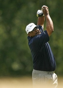 ENDICOTT, NY - JULY 13:  Jim Thorpe during the first round of the Dick's Sporting Goods Open being held at En Joi Golf Club on July 13, 2007 in Endicott, New York.  (Photo by Mike Ehrmann/WireImage) *** Local Caption *** Jim Thorpe Dick's Sporting Goods Open - First RoundPhoto by Mike Ehrmann/WireImage) *** Local Caption *** Jim Thorpe