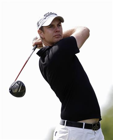 ATHENS, GA - MAY 05: Adam Blyth of Australia hits a drive during the first round of the Stadion Classic at UGA held at the University of Georgia Golf Course on May 5, 2011 in Athens, Georgia.  (Photo by Michael Cohen/Getty Images)