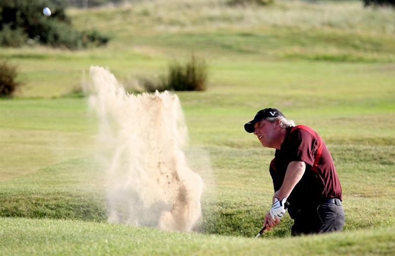 HARLECH, WALES - SEPTEMBER 02:  Simon Edwards of Windermere during the final round of the RCW2010 Welsh National PGA Championship at the Royal St. David's Golf Club on September 2, 2010 in Harlech, Wales.  (Photo by Ross Kinnaird/Getty Images)