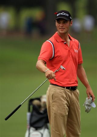 PONTE VEDRA BEACH, FL - MAY 14:  Martin Kaymer of Germany looks on after hitting his approach shot on the first hole during the third round of THE PLAYERS Championship held at THE PLAYERS Stadium course at TPC Sawgrass on May 14, 2011 in Ponte Vedra Beach, Florida.  (Photo by Streeter Lecka/Getty Images)