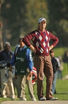 PACIFIC PALISADES, CA - FEBRUARY 16:  Aaron Baddeley of Australia surveys his shot from off the 12th fairway during the third round of the Northern Trust Open on February 16, 2008 at Riviera Country Club in Pacific Palisades, California.  (Photo by Stephen Dunn/Getty Images)