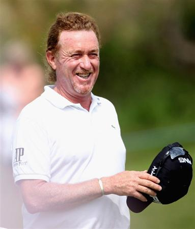 CASARES, SPAIN - MAY 20:  Miguel Angel Jimenez of Spain smiles during the group stages of the Volvo World Match Play Championship at Finca Cortesin on May 20, 2011 in Casares, Spain.  (Photo by Andrew Redington/Getty Images)