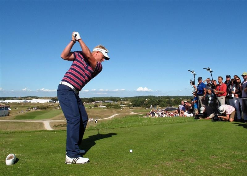 ZANDVOORT, NETHERLANDS - AUGUST 22:  Peter Hedblom of Sweden plays his tee shot on the 16th hole during the third round of The KLM Open at Kennemer Golf & Country Club on August 22, 2009 in Zandvoort, Netherlands.  (Photo by Stuart Franklin/Getty Images)