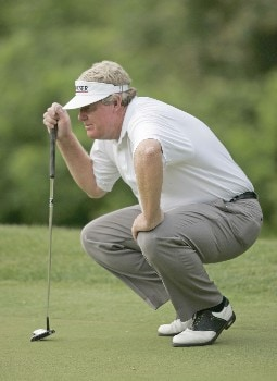 Andy Bean on the 15th hole during the first round of the 2005 Allianz Championship at the Tournament Club of Iowa in Polk City, Iowa on June 3, 2005.Photo by Mike Ehrmann/WireImage.com