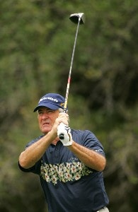 Dave Stockton during the first round of the FedEx Kinko's Classic held at The Hills Country Club in Austin, Texas, on April 28, 2006. Photo by Sam Greenwood/WireImage.com