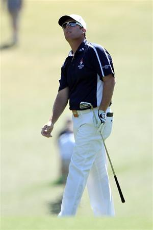 AUGUSTA, GA - APRIL 07:  D.A. Points watches his second shot on the first hole during the first round of the 2011 Masters Tournament at Augusta National Golf Club on April 7, 2011 in Augusta, Georgia.  (Photo by Andrew Redington/Getty Images)