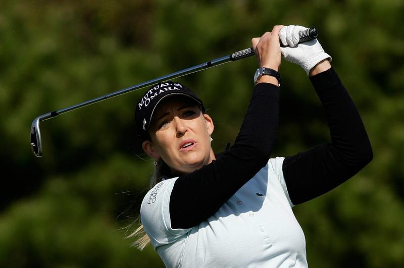 INCHEON, SOUTH KOREA - OCTOBER 29:  Cristie Kerr of the United States hits a tee shot on the 3rd hole during the 2010 LPGA Hana Bank Championship at Sky 72 Golf Club on October 29, 2010 in Incheon, South Korea.  (Photo by Chung Sung-Jun/Getty Images)