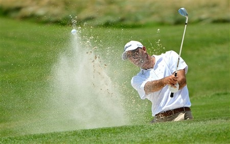 MEMPHIS, TN - JUNE 07:  Mark Turnesa hits out of the greenside bunker on the 2nd hole during the third round of the Stanford St. Jude Championship at the TPC Southwind on June 7, 2008 in Memphis, Tennessee.  (Photo by Marc Feldman/Getty Images)