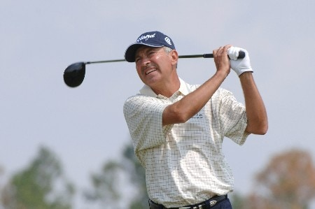 Morris Hatalsky  drives from the seventh tee  during the second round of the 2005 Blue Angels Class  May 14 in Milton, Fl.Photo by Al Messerschmidt/WireImage.com