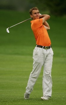 MALELANE, SOUTH AFRICA - DECEMBER 09:  Joost Luiten of Holland plays his second shot into the second green during the final round of The Alfred Dunhill Championship at The Leopard Creek Country Club on December 9, 2007 in Malelane, South Africa.  (Photo by Warren Little/Getty Images)