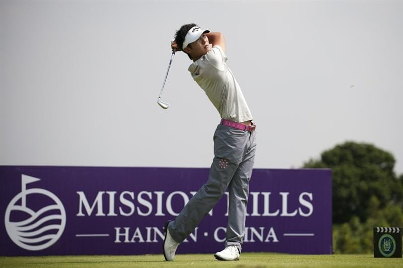 HAIKOU, CHINA - OCTOBER 29:  Danny Lee of New Zealand tees off on the 15th hole during day three of the Mission Hills Start Trophy tournament at Mission Hills Resort on October 29, 2010 in Haikou, China. The Mission Hills Star Trophy is Asia's leading leisure liflestyle event which features Hollywood celebrities and international golf stars.  (Photo by Victor Fraile/Getty Images for Mission Hills)
