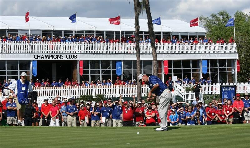 ORLANDO, FL - MARCH 16:  Chris DiMarco of the USA and  the Lake Nona Team at the 18th hole during the first day of the 2009 Tavistock Cup at the Lake Nona Golf and Country Club, on March 16, 2009 in Orlando, Florida  (Photo by David Cannon/Getty Images)