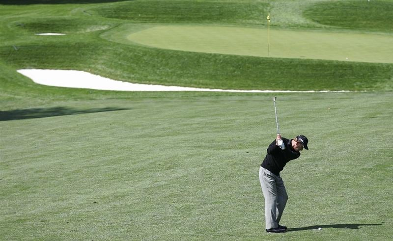 TIMONIUM, MD - OCTOBER 01:  Nick Price of Zimbabwe  plays a shot from the fairway during the first round of the Constellation Energy Senior Players Championship at Baltimore Country Club/Five Farms (East Course) held on October 1, 2009 in Timonium, Maryland  (Photo by Michael Cohen/Getty Images)