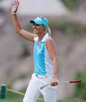 Action photo of Carin Koch of Sweeden and winner of the LPGA Corona Morelia Championship 2005 held at the Tres Marias Golf Club of Morelia, Mexico.Photo by Mexsport/WireImage.com