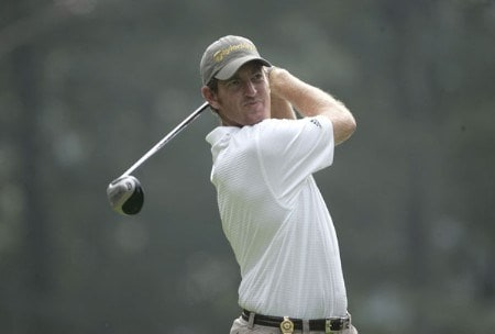 Greg Owen on the third tee during the final round of the 2005 PGA Championship at Baltusrol Golf Club in Springfield, New Jersey on August 14, 2005.Photo by Christopher Condon/WireImage.com