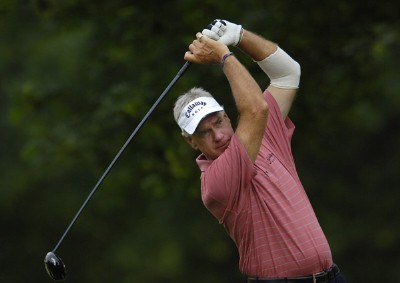 Bruce Fleisher during the first round of the Commerce Bank Championship on the Red Course at Eisenhower Park in East Meadow, New York, on June 23, 2006.Photo by Steve Levin/WireImage.com