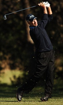 Bruce Fleisher hits from the 15th fairway during the second round of the FedEx Kinko's Classic at the Hills Country Club in Austin, Texas April 30, 2005.Photo by Steve Grayson/WireImage.com