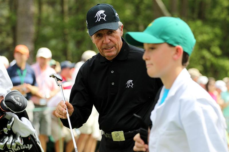 AUGUSTA, GA - APRIL 07:  Gary Player of South Africa walks across a green during the Par 3 Contest prior to the 2010 Masters Tournament at Augusta National Golf Club on April 7, 2010 in Augusta, Georgia.  (Photo by Jamie Squire/Getty Images)