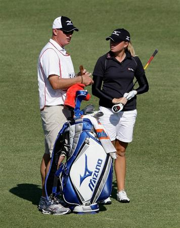 SHIMA, JAPAN - NOVEMBER 06:  Stacy Lewis of United States on the 6th hole during round two of the Mizuno Classic at Kintetsu Kashikojima Country Club on November 6, 2010 in Shima, Japan.  (Photo by Chung Sung-Jun/Getty Images)