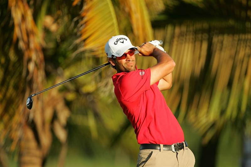 RIO GRANDE, PR - MARCH 14:  James Nitties of Australia hits his shot on the third tee box during the third round of the Puerto Rico Open presented by Banco Popular at Trump International Golf Club held on March 14, 2010 in Rio Grande, Puerto Rico.  (Photo by Michael Cohen/Getty Images)