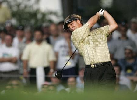 Scott McCarron during the third round of the 2005 PGA Championship at Baltusrol Golf Club in Springfield, New Jersey on August 13, 2005.Photo by Sam Greenwood/WireImage.com