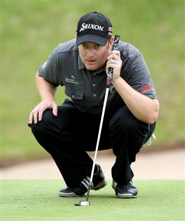 NEWPORT, WALES - JUNE 05:  Richard McEvoy of England during the third round of the Celtic Manor Wales Open on the 2010 Course at the Celtic Manor Resort on June 5, 2010 in Newport, Wales.  (Photo by Ross Kinnaird/Getty Images)