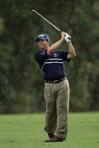 Charles Warren hits his second shot on the 18th hole on the Palm Course during the first round of The Childrens Miracle Network Classic held at The Disney Shades of Green Resort, on November 1, 2007 in Orlando, Florida, PGA TOUR - 2007 Children's Miracle Network Classic presented by Wal-Mart - First RoundPhoto by David Cannon/WireImage.com