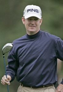 Jeff Maggert on the 15th hole during the first round of the 84 Lumber Classic at Nemacolin Woodlands Resort in Farmington, Pennsylvania on Thursday, September, 14th, 2006.Photo by Hunter Martin/WireImage.com