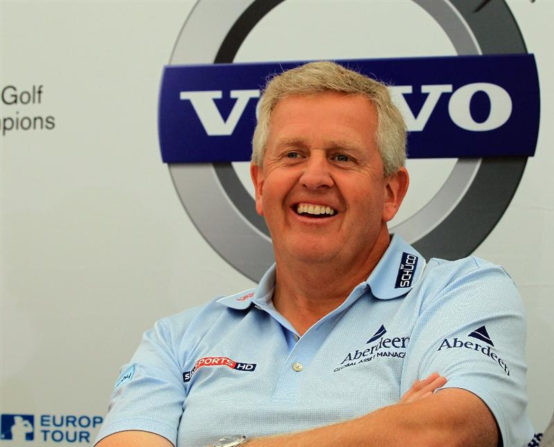 BAHRAIN, BAHRAIN - JANUARY 25:  Colin Montgomerie of Scotland during his media conference as a preview for the 2011 Volvo Champions held at the Royal Golf Club on January 25, 2011 in Bahrain, Bahrain.  (Photo by David Cannon/Getty Images)