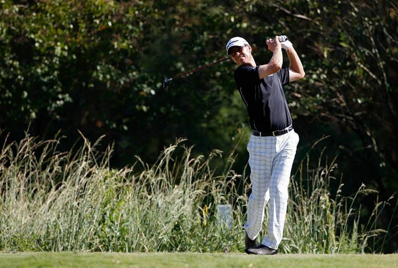 MADISON, MS - OCTOBER 02:  John Senden of Australia Hits his drive on the 16th tee box during the third round of the Viking Classic held at Annandale Golf Club on October 2, 2010 in Madison, Mississippi.  (Photo by Michael Cohen/Getty Images)