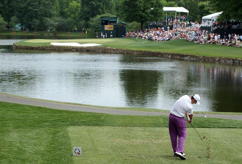 CHARLOTTE, NC - MAY 01:  J.J. Henry tees off at the 17th hole during the third round of the 2010 Quail Hollow Championship at the Quail Hollow Club on May 1, 2010 in Charlotte, North Carolina.  (Photo by Scott Halleran/Getty Images)