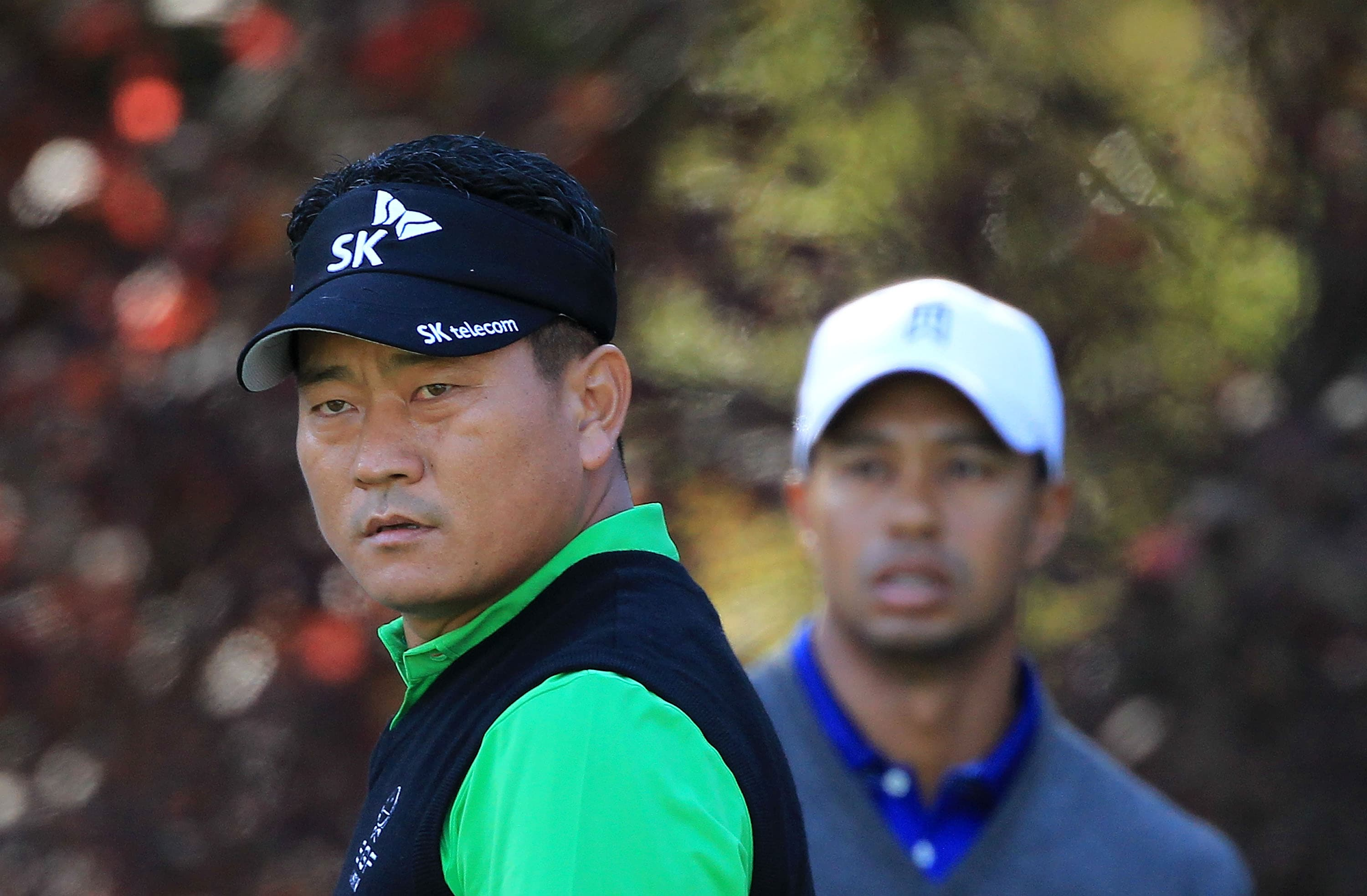 K.J. Choi and Tiger Woods