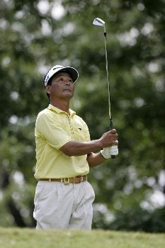Hajime Meshiai at the 17th tee box during the first round of the Bruno's Memorial Classic, May 21,2005, held at Greystone GC, Birmingham, Al.Photo by Stan Badz/PGA TOUR/WireImage.com