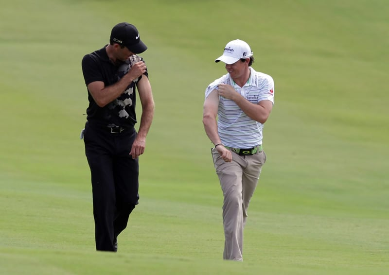 Charl Schwartzel and Rory McIlroy