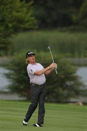 SUN CITY, SOUTH AFRICA - DECEMBER 02: Miguel Angel Jimenez of Spain in action during day 1 of the 2010 Nedbank Golf Challenge at the Gary Player Country Club Course on December 2, 2010 in Sun City, South Africa.  (Photo by Luke Walker/Gallo Images/Getty Images)