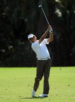 LAKE BUENA VISTA, FL - NOVEMBER 02:  Stephen Ames of Canada hits his second shot on the 9th hole on the Palm Course during the second round of The Childrens Miracle Network Classic held on the Palm and Magnolia Courses at The Disney Shades of Green Resort, on November 2, 2007 in Lake Buena Vista, Florida.  (Photo by David Cannon/Getty Images)