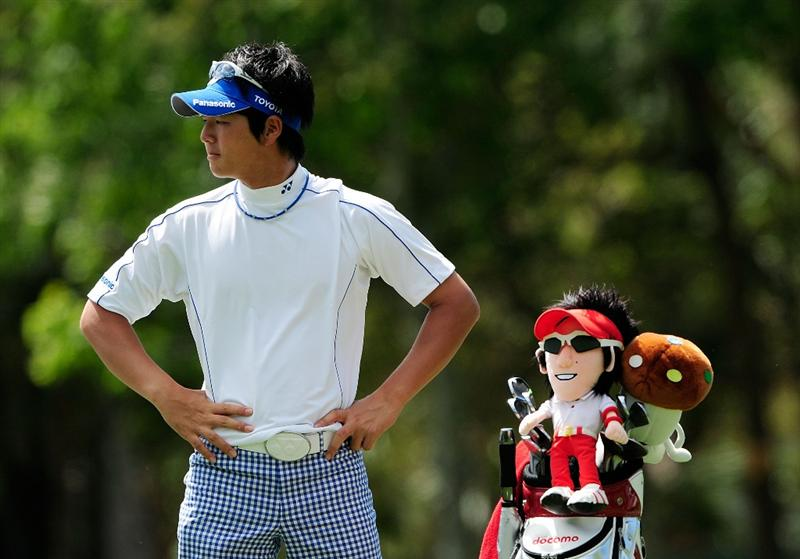 PALM HARBOR, FL - MARCH 19:  Ryo Ishikawa of Japan waits to play a shot on the 17th hole during the first round of the Transitions Championship at the Innisbrook Resort and Golf Club on March 19, 2009 in Palm Harbor, Florida.  (Photo by Sam Greenwood/Getty Images)