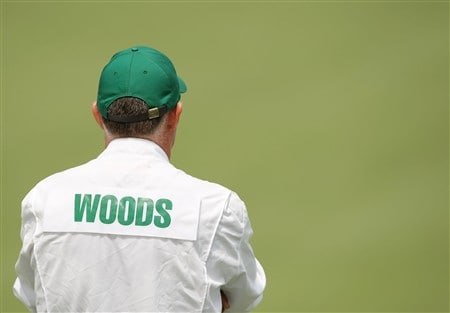 AUGUSTA, GA - APRIL 10:  Steve Williams waits on the second green during the first round of the 2008 Masters Tournament at Augusta National Golf Club on April 10, 2008 in Augusta, Georgia.  (Photo by Harry How/Getty Images)