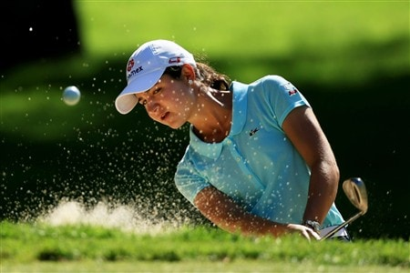 EDINA, MN - JUNE 24:  Lorena Ochoa of Mexico hits from a bunker during a practice round prior to the 2008 U.S. Women's Open at Interlachen Country Club on June 24, 2008 in Edina, Minnesota.  (Photo by Travis Lindquist/Getty Images)