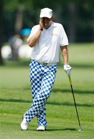 FT. WORTH, TX - MAY 27:  John Daly waits on the third hole during the first round of the 2010 Crowne Plaza Invitational at the Colonial Country Club on May 27, 2010 in Ft. Worth, Texas  (Photo by Scott Halleran/Getty Images)