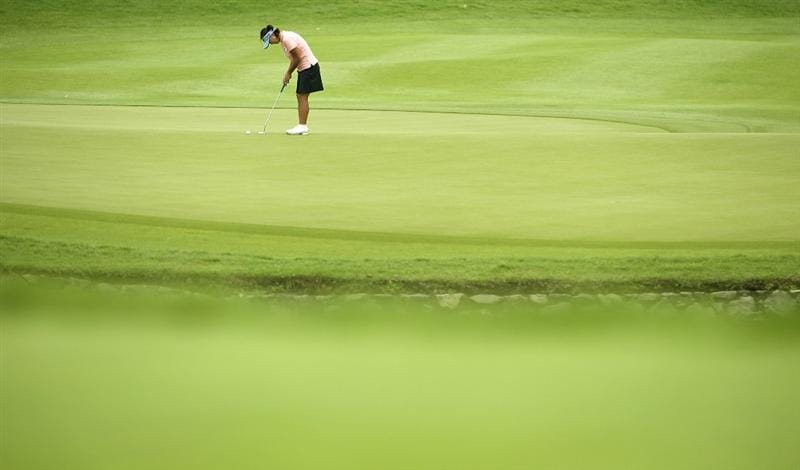SINGAPORE - MARCH 07:  Jane Park of the USA on the par tree 8th hole during the third round of HSBC Women's Champions at the Tanah Merah Country Club on March 7, 2009 in Singapore.  (Photo by Victor Fraile/Getty Images)