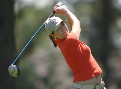 Shi Hyun Ahn in action during the third round of the LPGA's 2006 Michelob ULTRA Open at Kingsmill, at the Kingsmill Resort and Spa River Course in Williamsburg, Virginia on May 13, 2006.Photo by Steve Grayson/WireImage.com