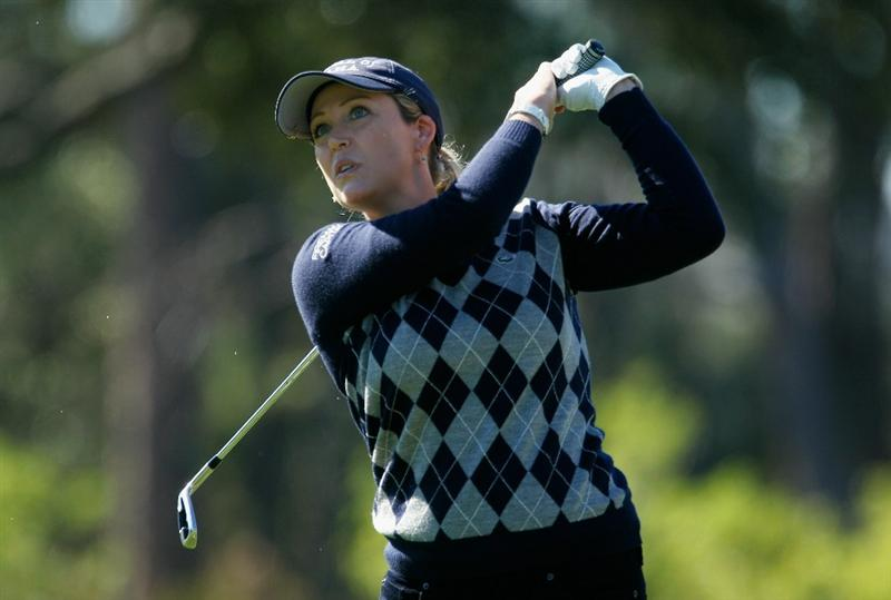 ORLANDO, FL - DECEMBER 03:  Cristie Kerr hits her tee shot on the eighth hole during the second round of the LPGA Tour Championship at the Grand Cypress Resort on December 3, 2010 in Orlando, Florida.  (Photo by Scott Halleran/Getty Images)