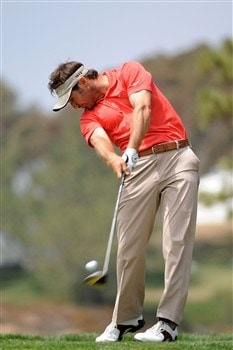 SAN DIEGO - JUNE 12:  Trevor Immelman of South Africa tees off the fifth hole during the first round of the 108th U.S. Open at the Torrey Pines Golf Course (South Course) on June 12, 2008 in San Diego, California.  (Photo by Harry How/Getty Images)