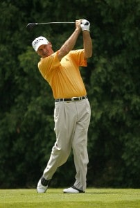 ENDICOTT, NY - JULY 14:  R.W. Eaks during the second round of the Dick's Sporting Goods Open being held at En Joi Golf Club in Endicott, New York on July 14, 2007. (Photo by Mike Ehrmann/WireImage)  *** Local Caption *** R.W. Eaks Champions Tour - 2007 Dick's Sporting Goods Open - Second RoundPhoto by Mike Ehrmann/WireImage)  *** Local Caption *** R.W. Eaks