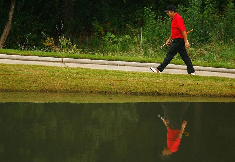 CONOVER, NC - SEPTEMBER 20:  David Frost of South Africa walks to the eighth green during the final round of the Greater Hickory Classic at the Rock Barn Golf & Spa on September 20, 2009 in Conover, North Carolina.  (Photo by Scott Halleran/Getty Images)