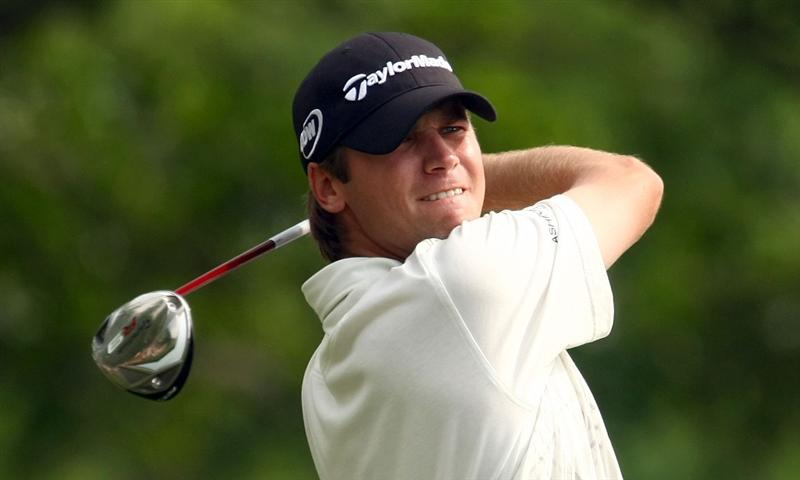 CHARLOTTE, NC - MAY 03:  Sean O'Hair hits his tee shot on the 15th tee during the final round of the Quail Hollow Championship at the Quail Hollow Club on May 3, 2009 in Charlotte, North Carolina.  (Photo by Scott Halleran/Getty Images)